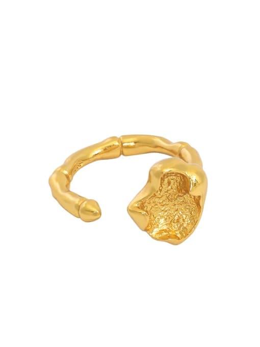 South Korea 18K gold [11 adjustable] 925 Sterling Silver Irregular Minimalist Band Ring